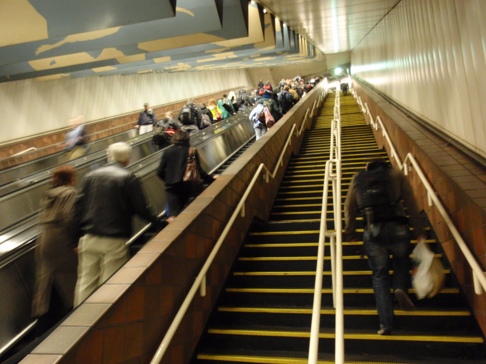 Porter Square Station - race up the stairs