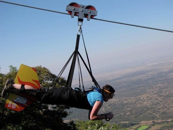 Zip lining in South Africa