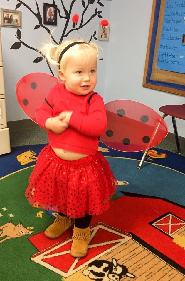 Lady Bug Kids Halloween Costume no-sew