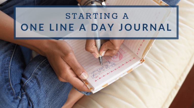 Starting a One Line a Day Journal