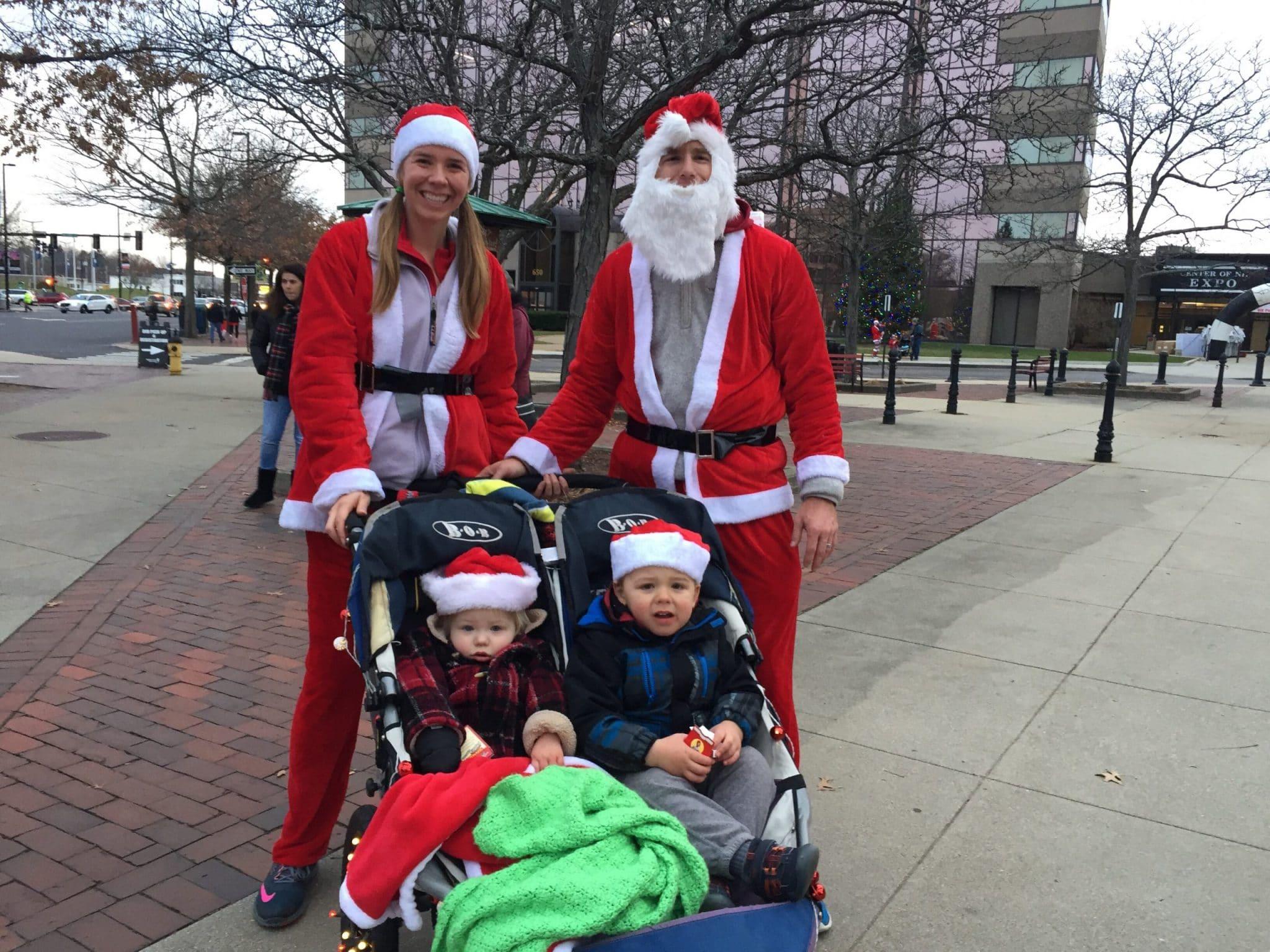 Santa Shuffle 5K with kids