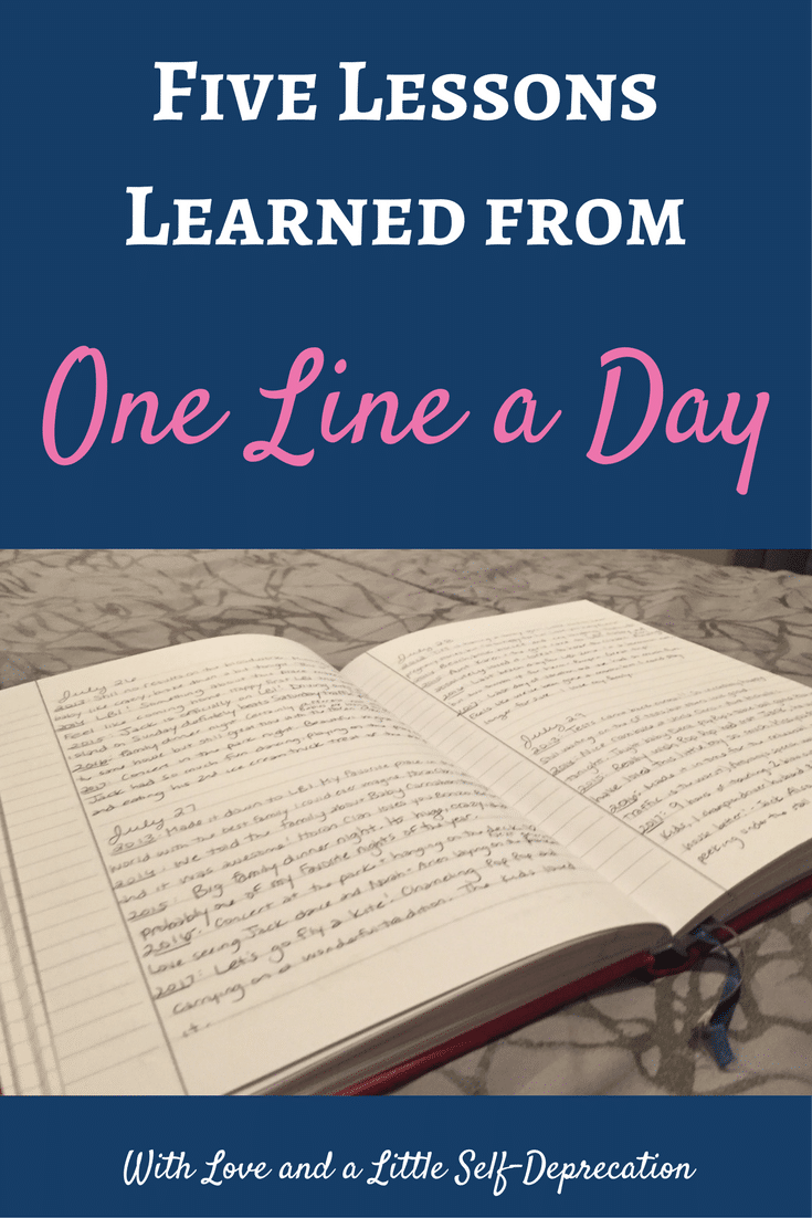One line a day journal - The lessons we learn from one journal, 5 years, and one line a day.