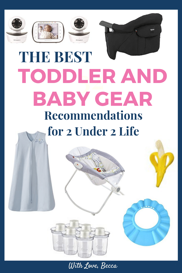 The best 2 under 2 toddler and baby gear recommendations. #2under2