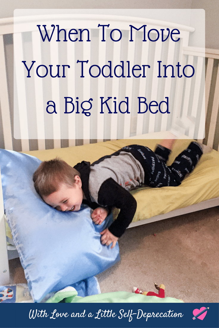 When to move your child into a toddler bed.