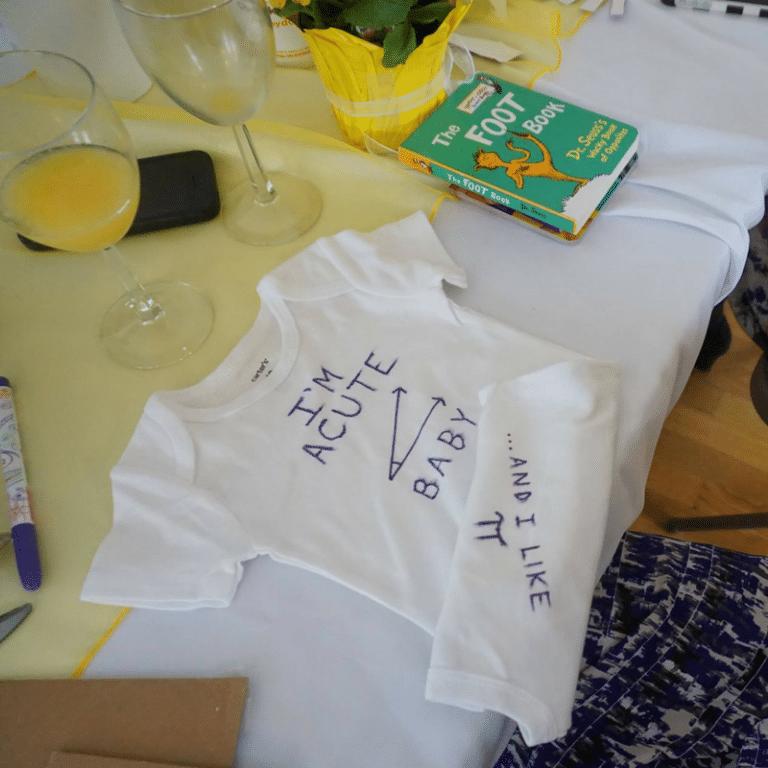 Baby Shower Activities - onesie decorating
