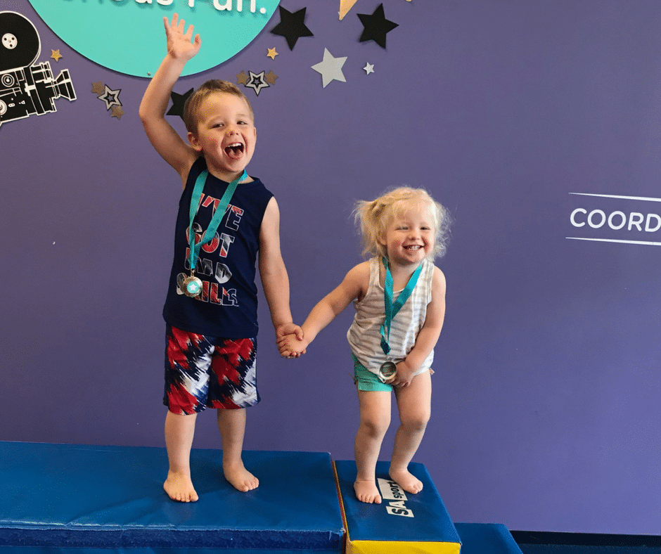A lesson in being brave, from a two year old who loves The Little Gym