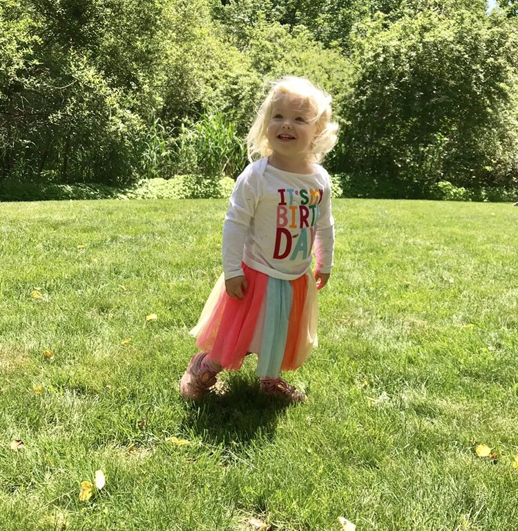two year old girl birthday outfit