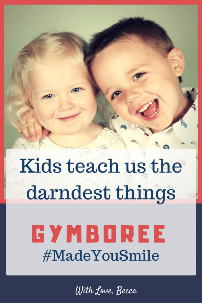 Kids teach us the darndest things. How can you make yourself smile today? Gymboree wants to remind you to do just that. #Gymboree #MadeYouSmile #LessonsFromKids #Parenting