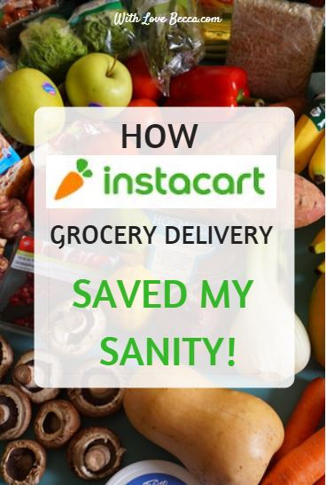 Instacart Grocery Delivery - How grocery delivery saved my sanity and $50! #grocerydelivery #lifehack #groceryshopping