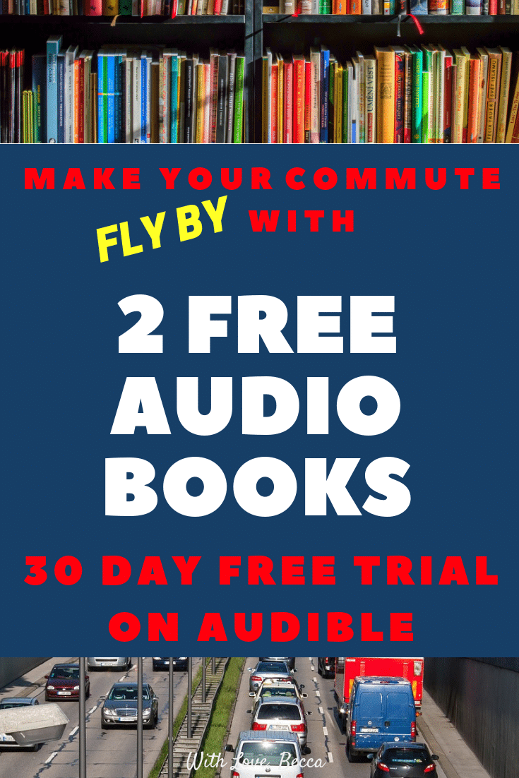 Two free audio books from Audible for your commute! #commute #personaldevelopment #books