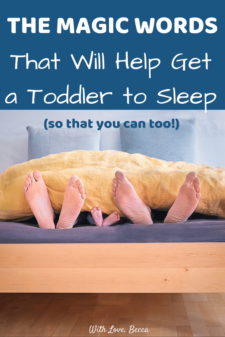 How to get a toddler to sleep (so that you can too!) #toddlers #parenting #toddlersleep