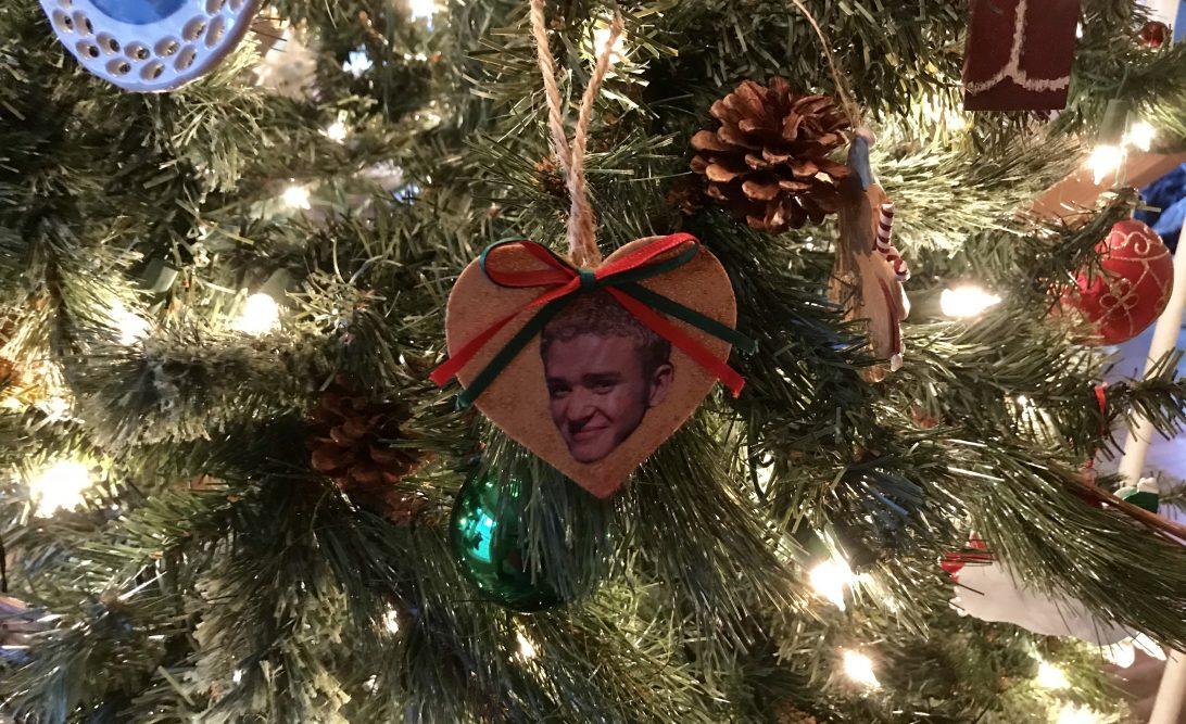 Justin Timberlake Christmas ornament. #90snostalgia #christmasornaments