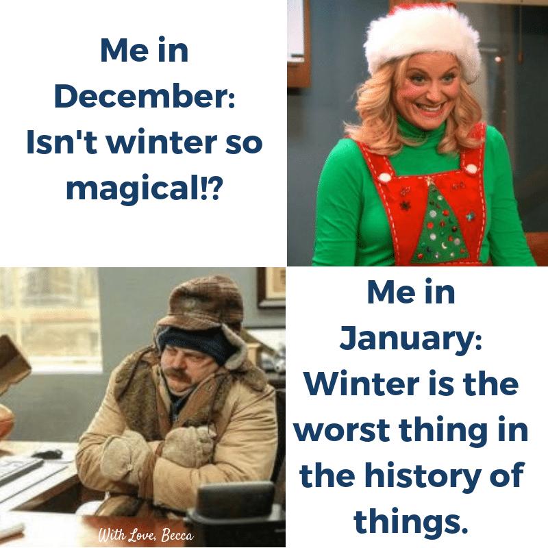 Funny cold weather memes - Parks & Rec