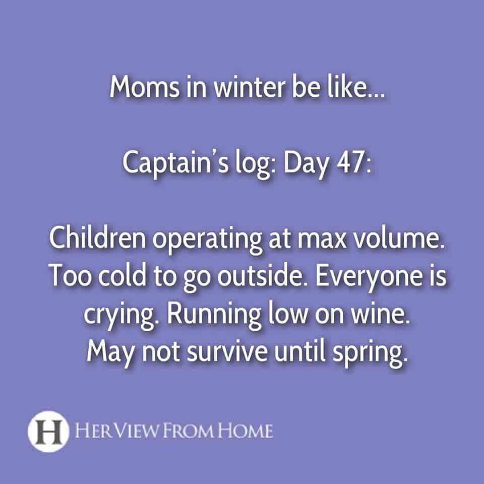 Funny cold weather memes parents