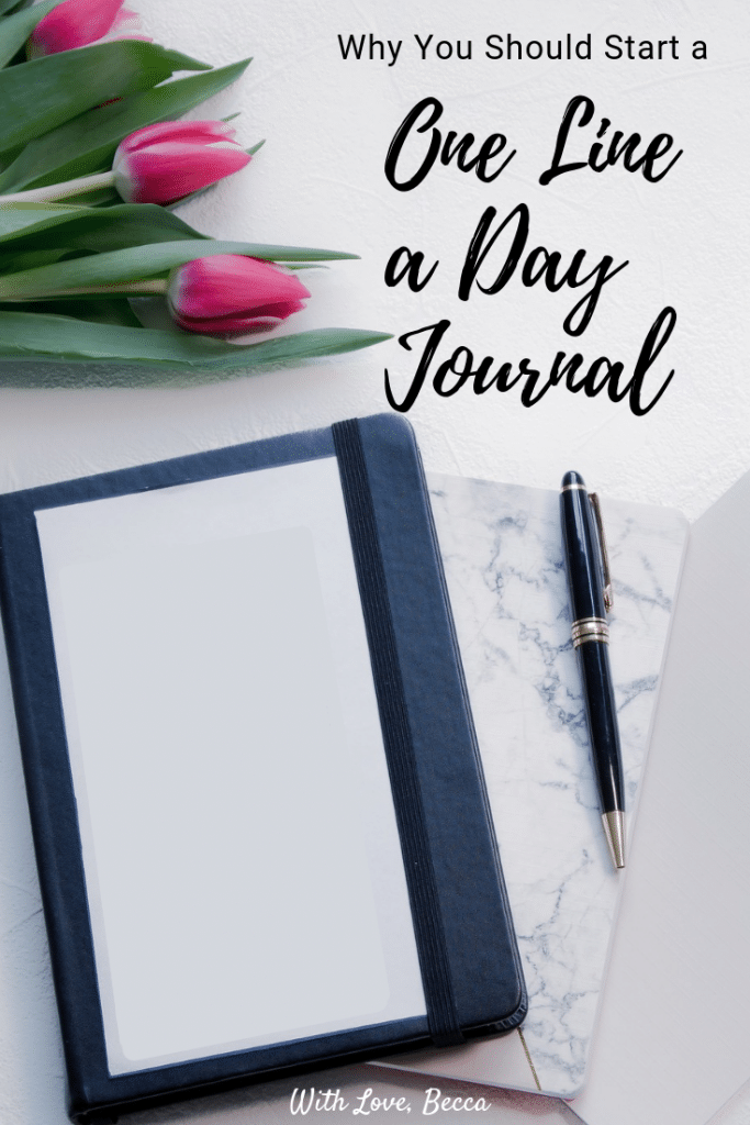 One line a day journal - five lessons learned from a one line a day journal. #journal #writing #babybook #journaling
