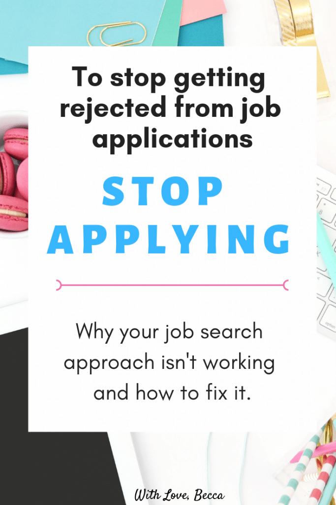 Stop getting rejected from jobs #careeradvice #jobapplications #jobinterviews #resumetips