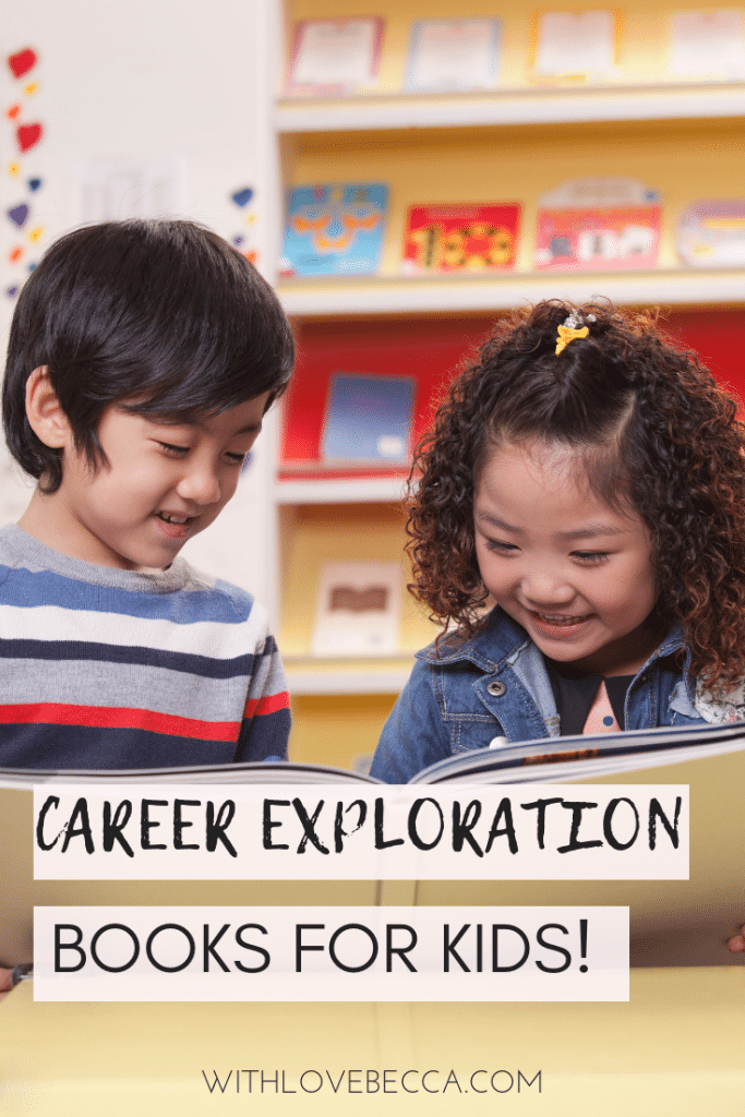 Boy and girl reading books together - career exploration books for kids
