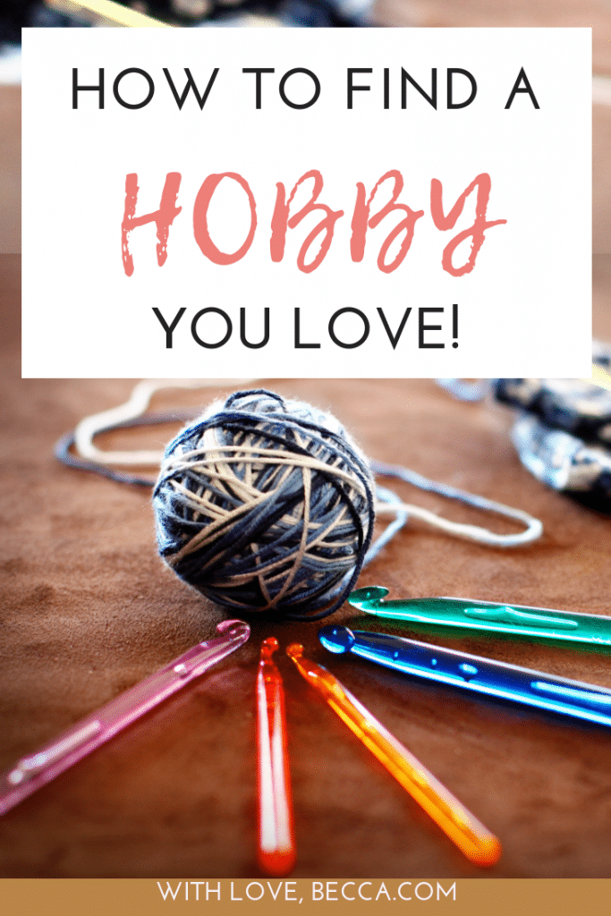 Find a hobby you'll love - knitting needles