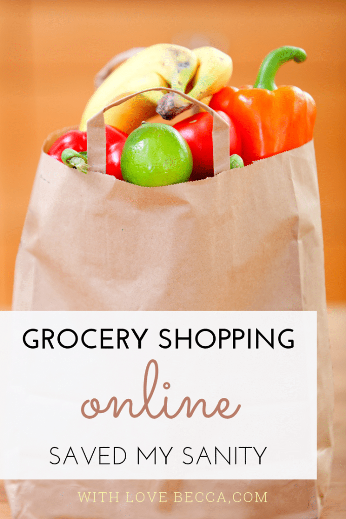 How online grocery shopping and grocery delivery saved my sanity #savemoney #savetime #workingmom