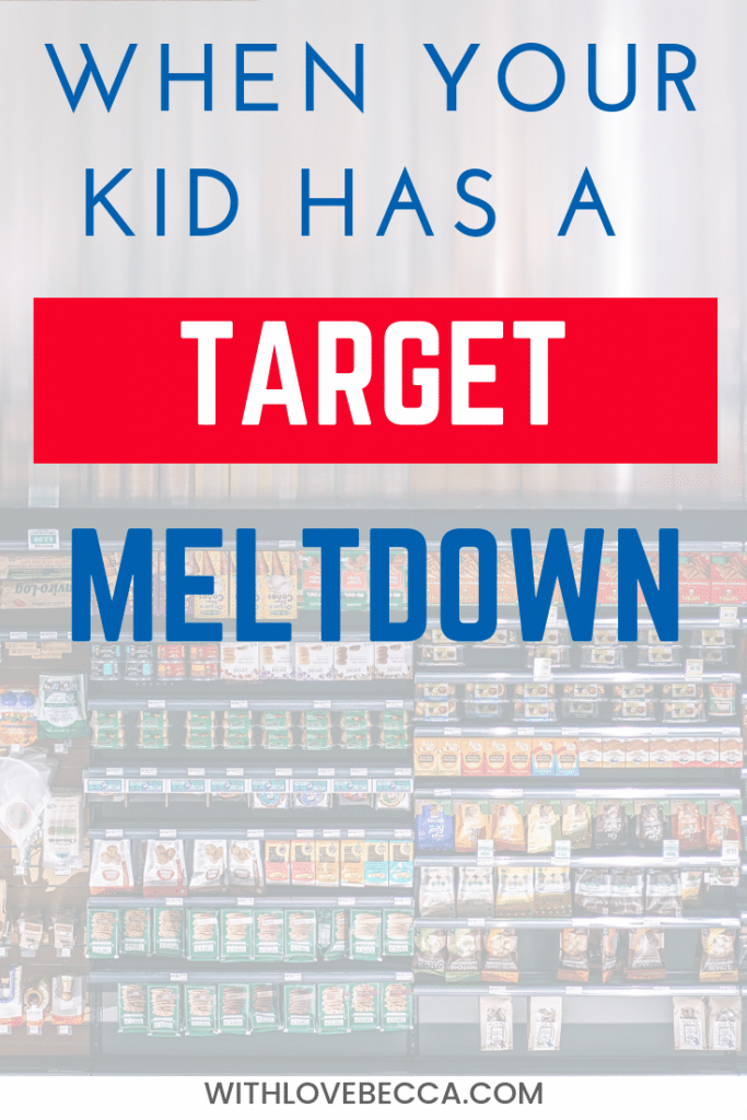 How to deal when your kid has a meltdown in Target. Managing the tantrum and moving on. #kids #parenting #funnymom