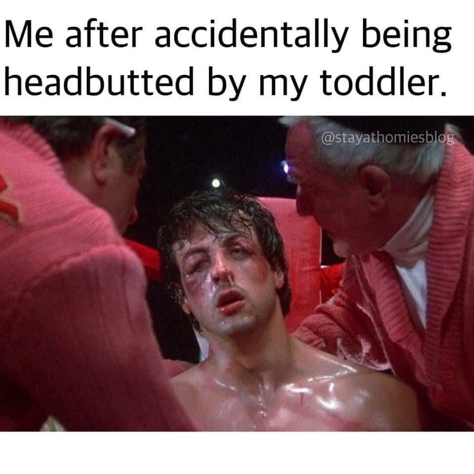 Rocky toddler meme.