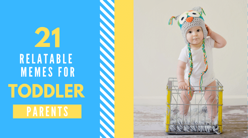 Toddler in basket. Retalable toddler memes.