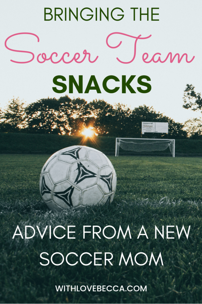Bringing the Soccer Team Snacks - Advice from a New Soccer Mom. Soccer Field with ball and net.