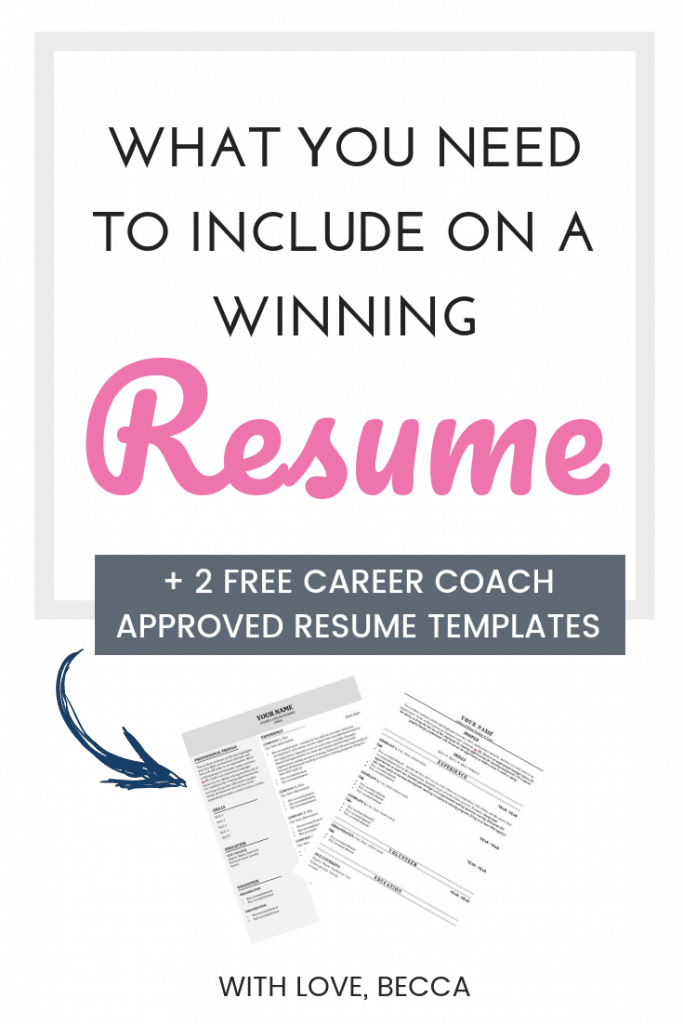 How to write a winning resume - free resume templates