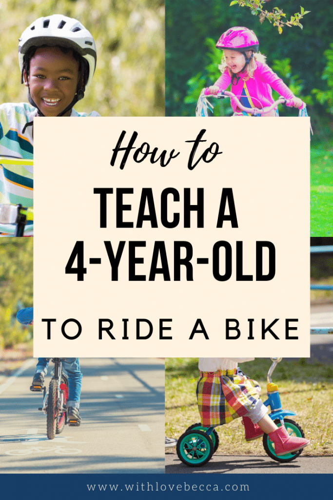 How to teach a 4-year-old to ride a bike