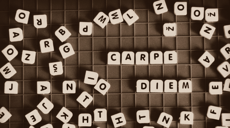 scramble board - carpe diem