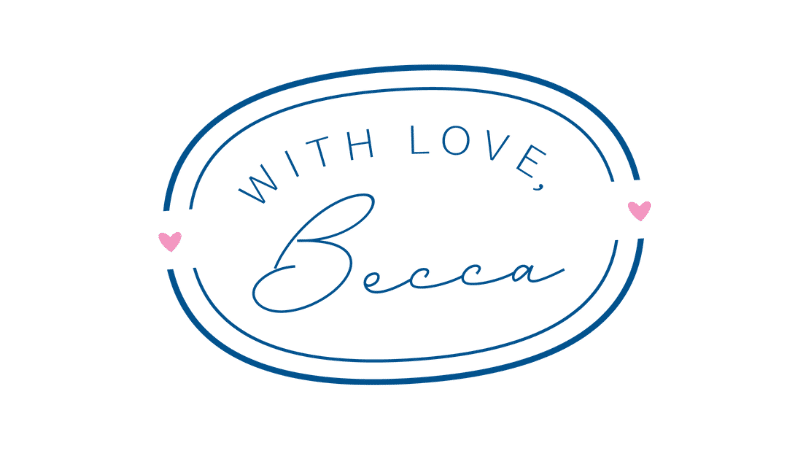 With Love, Becca logo