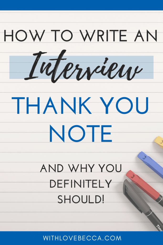 How to Write an Interview Thank You Note (And Why You Should)