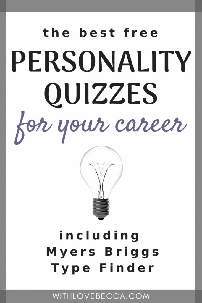 the best free personality quizzes for your career, including Myers Briggs Type Finder