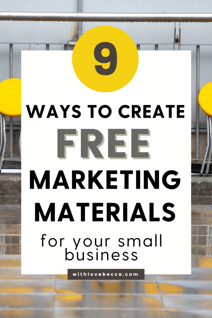 How to create small business marketing materials